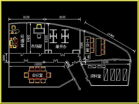佐艺CAD培训班平面图绘制学员作品16图片展示