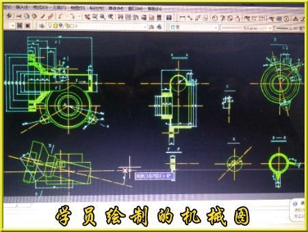 佐艺CAD培训班机械图绘制学员作品18图片展示